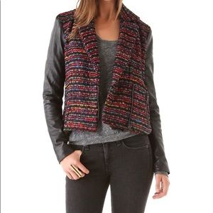 Torn by Rony Kobo leather and tweed jacket